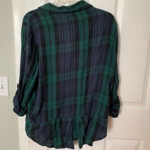 Cotton On Tops - Cotton On Green Plaid Flannel